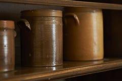 Gruppo di vecchi strumenti della cucina Fotografia Stock