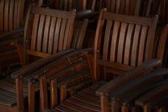 Gruppo di vecchie sedie di legno antiche Fotografia Stock Libera da Diritti