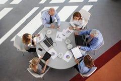 Gruppo di vendite sul lavoro Immagine Stock