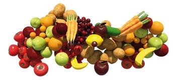 Gruppo di verdura e della frutta immagine stock