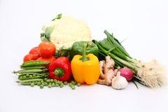 Gruppo di verdure e di spezie fotografia stock libera da diritti
