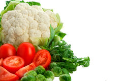Gruppo di verdure su priorità bassa bianca Fotografia Stock Libera da Diritti