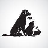 Gruppo di vettore di animali domestici Immagini Stock Libere da Diritti
