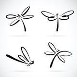 Gruppo di vettore di schizzo della libellula illustrazione di stock