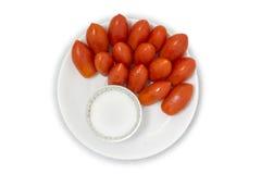 Gruppo di violenza Cherry Tomatoes Fotografie Stock Libere da Diritti