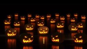 Gruppo di zucche felici di Halloween illustrazione vettoriale