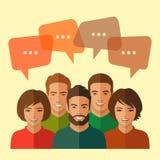 Gruppo, dialogo di chiacchierata illustrazione di stock