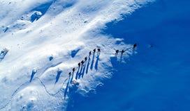 gruppo duro ed irregolare di scalata di montagna Fotografie Stock
