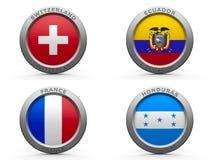 Gruppo E della coppa del Mondo 2014 del Brasile Immagine Stock