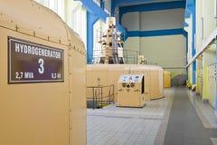 Gruppo elettrogeno della turbina idraulica Immagini Stock