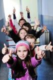 Gruppo felice dei bambini a scuola Fotografia Stock Libera da Diritti