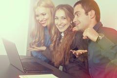 Gruppo felice di affari Immagine Stock