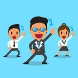 Gruppo felice di affari del fumetto Immagine Stock