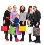 Gruppo felice di gente di acquisto che tiene le borse Fotografia Stock Libera da Diritti