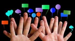 Gruppo felice di smiley 3 del dito Immagine Stock