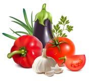 Gruppo fresco variopinto di verdure. royalty illustrazione gratis