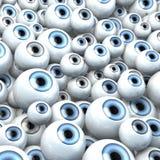 Gruppo gigante di occhi che fissa nel cielo Fotografia Stock