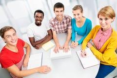 Gruppo internazionale di studenti Immagine Stock