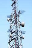 Gruppo isolato di antenne radiofoniche di GSM Fotografie Stock Libere da Diritti