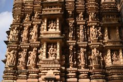 Gruppo Jain di tempie, Khajuraho, India immagini stock libere da diritti