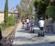 Gruppo Malaga Spagna, Tom Wurl di giro di Segway Immagine Stock