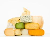 Gruppo misto dei formaggi gastronomici Immagini Stock Libere da Diritti