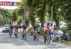 Gruppo MTN-Qhubeka - Team Time Trial 2015 Immagine Stock