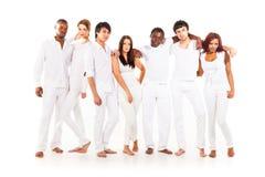 gruppo Multi-etnico di giovani adulti Immagine Stock Libera da Diritti