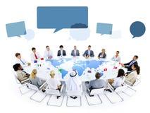 Gruppo multietnico di gente di affari di riunione Fotografia Stock