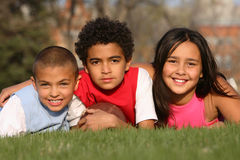 Gruppo Multiracial di bambini Fotografia Stock