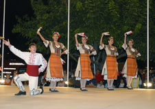 Gruppo musicale di ballo della Bulgaria Immagini Stock