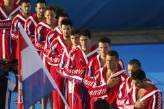 Gruppo nazionale croato di Waterpolo Fotografia Stock Libera da Diritti