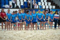 Gruppo nazionale russo di rugby del ` s delle donne Fotografia Stock