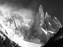 Gruppo nella Patagonia, Argentina di Cerro Torre Fotografia Stock