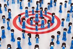 Gruppo-obiettivo sociale Fotografia Stock