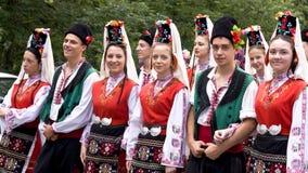 Gruppo piega tradizionale della Bulgaria Fotografie Stock