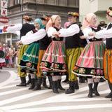 Gruppo piega tradizionale della Polonia Fotografia Stock Libera da Diritti
