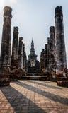 Gruppo principale del tempiale a Wat Mahathat Fotografia Stock