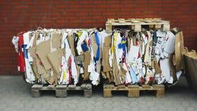 Gruppo riciclato del cartone Fotografie Stock Libere da Diritti