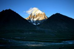 Gruppo Rinpoche (Kailash) del supporto Fotografie Stock Libere da Diritti