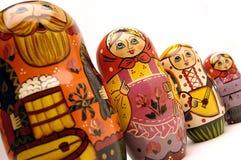 Gruppo russo della bambola Fotografia Stock