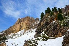 Gruppo Sassolungo Langkofel della montagna Il Tirolo del sud, Italia Fotografia Stock Libera da Diritti