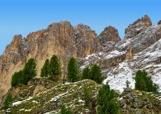 Gruppo Sassolungo Langkofel della montagna Provincia di Trento, Tirolo del sud, Italia Immagini Stock Libere da Diritti