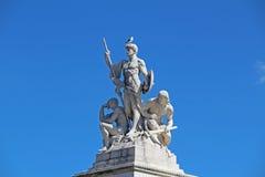 Gruppo scultoreo vicino al monumento di Victor Emmanuel II, Roma L'Italia Immagini Stock