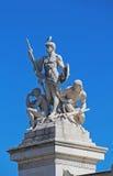 Gruppo scultoreo vicino al monumento di Victor Emmanuel II, Roma L'Italia Immagine Stock