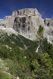 Gruppo Sella. Dolomites from Passo Sella Stock Photo
