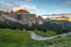 Gruppo Sella in Dolomites, Italy Stock Photos