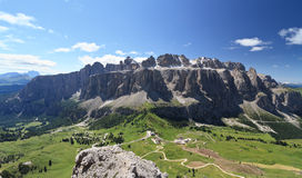 Gruppo Sella and passo Gardena Royalty Free Stock Images