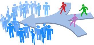Gruppo sociale della società dell'unire della gente royalty illustrazione gratis