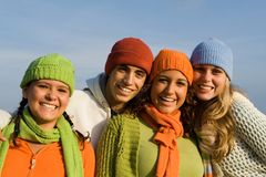 Gruppo sorridente Fotografia Stock